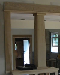custom wood craftsman column